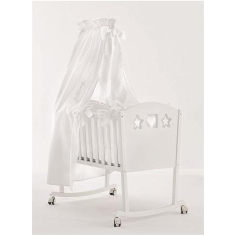 Culla in legno completa cuore bianco 41703 nanan - Palme con il cui legno si fanno sedie e tavoli ...
