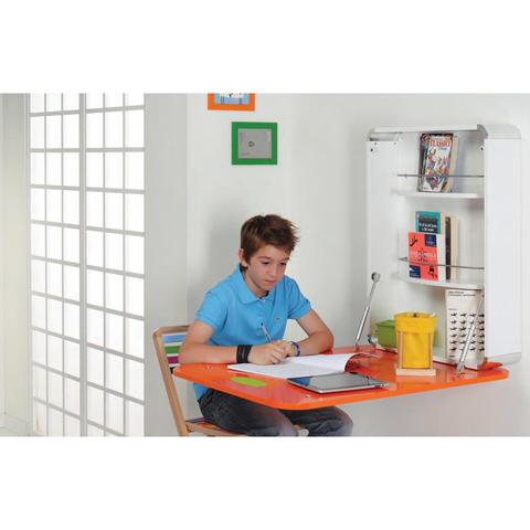 Fasciatoio/scrivania A Muro Arancione
