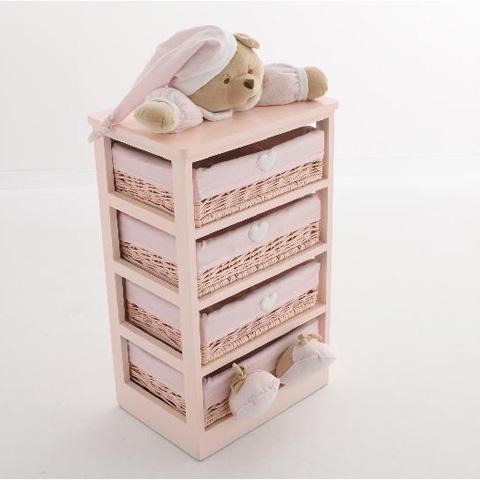 Mobile a 4 cassetti puccio tutto rosa 12006r nanan - Mobile a cassetti ...