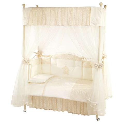 Alina letto a baldacchino con rivestimento bianco - Letto a baldacchino bianco ...